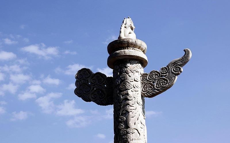 汉白玉华表石雕