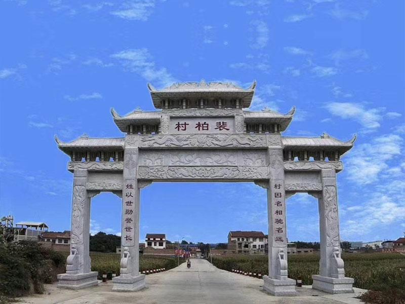大型石雕牌坊的防護也要做到位