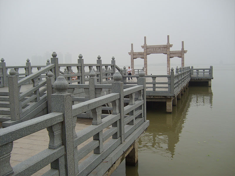 河道石护栏