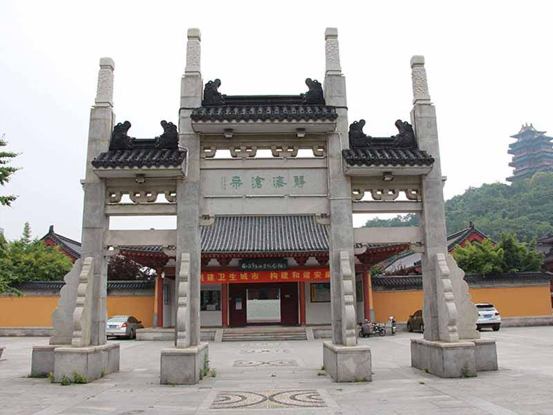 景区石牌坊大型仿古石雕大门装饰建筑